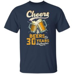 September 1991 30 Years Old Cheers Beer To My 30th Birthday T-Shirt 35 of Sapelle