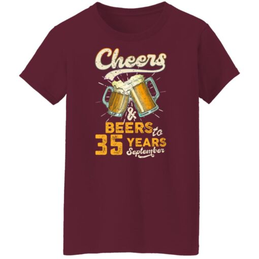 September 1986 35 Years Old Cheers Beer To My 35th Birthday T-Shirt 14 of Sapelle