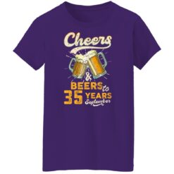 September 1986 35 Years Old Cheers Beer To My 35th Birthday T-Shirt 46 of Sapelle