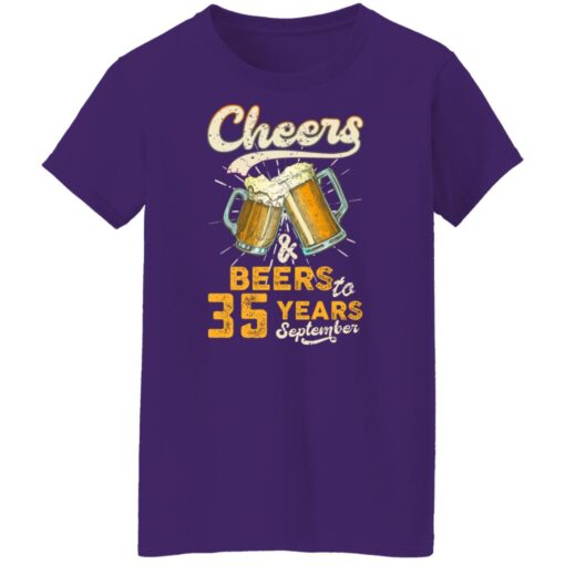 September 1986 35 Years Old Cheers Beer To My 35th Birthday T-Shirt 16 of Sapelle