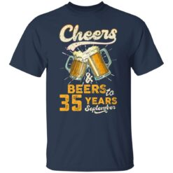 September 1986 35 Years Old Cheers Beer To My 35th Birthday T-Shirt 20 of Sapelle