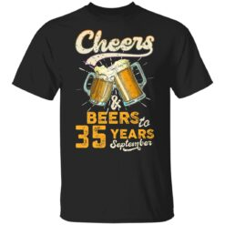 September 1986 35 Years Old Cheers Beer To My 35th Birthday T-Shirt 26 of Sapelle