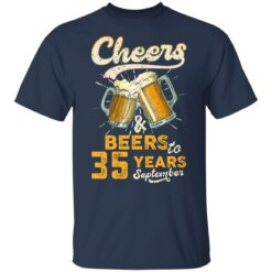 September 1986 35 Years Old Cheers Beer To My 35th Birthday T-Shirt 32 of Sapelle