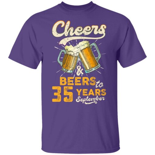 September 1986 35 Years Old Cheers Beer To My 35th Birthday T-Shirt 10 of Sapelle