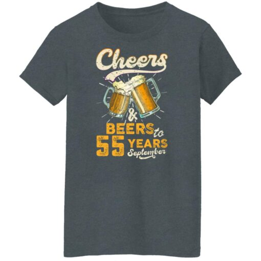 September 1966 55 Years Old Cheers Beer To My 55th Birthday T-Shirt 14 of Sapelle