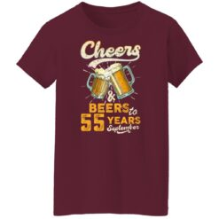 September 1966 55 Years Old Cheers Beer To My 55th Birthday T-Shirt 45 of Sapelle