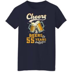 September 1966 55 Years Old Cheers Beer To My 55th Birthday T-Shirt 47 of Sapelle