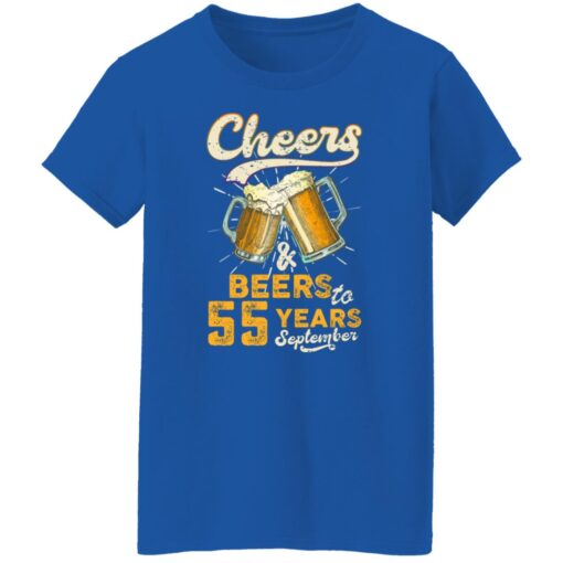 September 1966 55 Years Old Cheers Beer To My 55th Birthday T-Shirt 18 of Sapelle