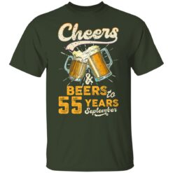 September 1966 55 Years Old Cheers Beer To My 55th Birthday T-Shirt 31 of Sapelle