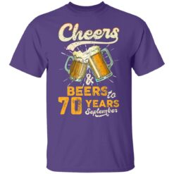 September 1951 70 Years Old Cheers Beer To My 70th Birthday T-Shirt 37 of Sapelle
