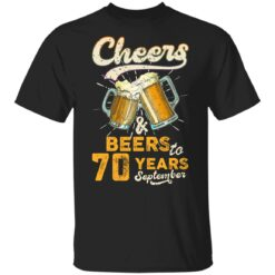 September 1951 70 Years Old Cheers Beer To My 70th Birthday T-Shirt 29 of Sapelle