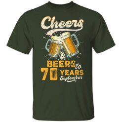 September 1951 70 Years Old Cheers Beer To My 70th Birthday T-Shirt 31 of Sapelle