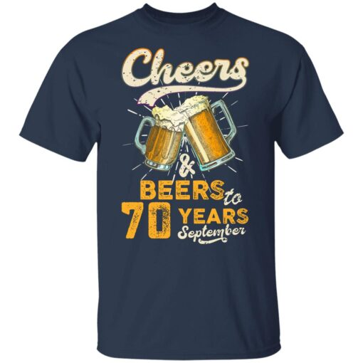 September 1951 70 Years Old Cheers Beer To My 70th Birthday T-Shirt 10 of Sapelle
