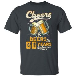 September 1961 60 Years Old Cheers Beer To My 60th Birthday T-Shirt 19 of Sapelle