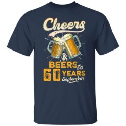 September 1961 60 Years Old Cheers Beer To My 60th Birthday T-Shirt 23 of Sapelle