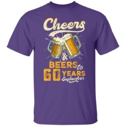 September 1961 60 Years Old Cheers Beer To My 60th Birthday T-Shirt 25 of Sapelle