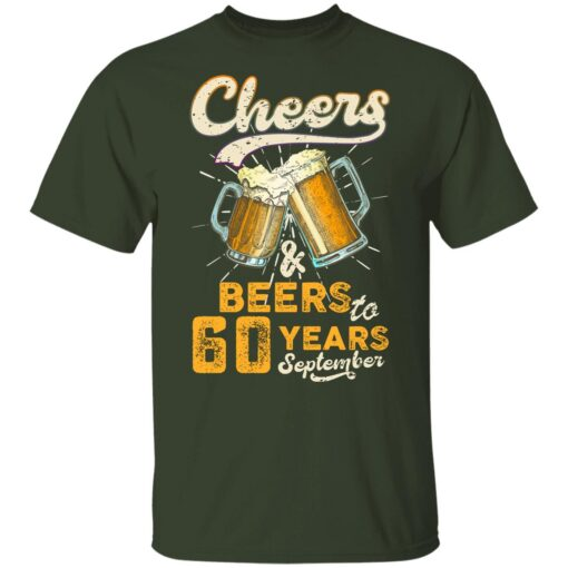 September 1961 60 Years Old Cheers Beer To My 60th Birthday T-Shirt 8 of Sapelle