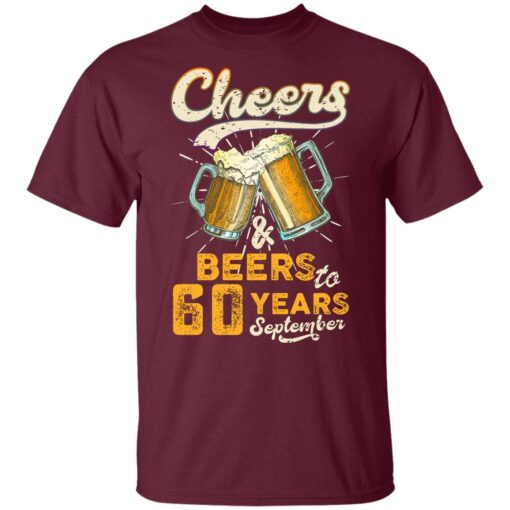 September 1961 60 Years Old Cheers Beer To My 60th Birthday T-Shirt 9 of Sapelle
