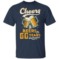 September 1961 60 Years Old Cheers Beer To My 60th Birthday T-Shirt 35 of Sapelle