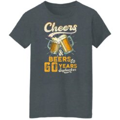 September 1961 60 Years Old Cheers Beer To My 60th Birthday T-Shirt 43 of Sapelle