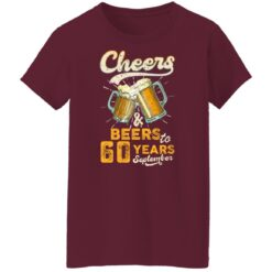September 1961 60 Years Old Cheers Beer To My 60th Birthday T-Shirt 45 of Sapelle