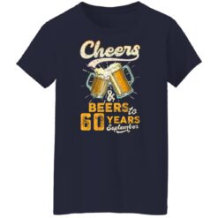 September 1961 60 Years Old Cheers Beer To My 60th Birthday T-Shirt 47 of Sapelle