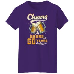 September 1961 60 Years Old Cheers Beer To My 60th Birthday T-Shirt 49 of Sapelle