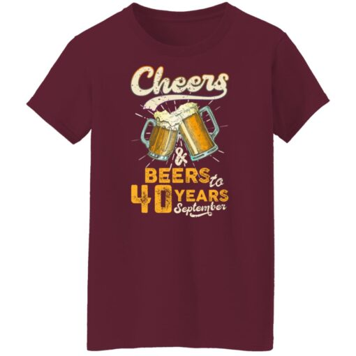 September 1981 40 Years Old Cheers Beer To My 40th Birthday T-Shirt 15 of Sapelle