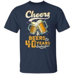September 1981 40 Years Old Cheers Beer To My 40th Birthday T-Shirt 23 of Sapelle