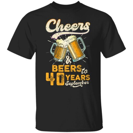 September 1981 40 Years Old Cheers Beer To My 40th Birthday T-Shirt 1 of Sapelle