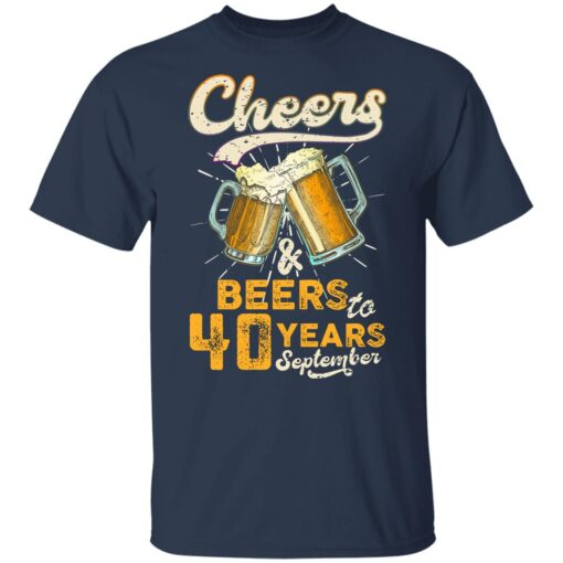 September 1981 40 Years Old Cheers Beer To My 40th Birthday T-Shirt 10 of Sapelle
