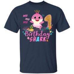 Baby Cute Shark Birthday Boys Girls 1 Year Old 1st Birthday T-shirt 8 of Sapelle