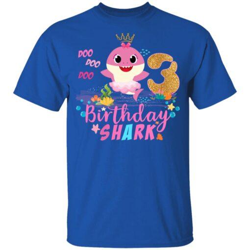 Baby Cute Shark Birthday Boys Girls 3 Years Old 3rd Birthday T-shirt 5 of Sapelle