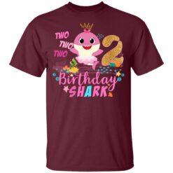Baby Cute Shark Birthday Boys Girls 2 Years Old 2nd Birthday T-shirt 6 of Sapelle