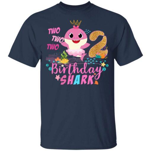 Baby Cute Shark Birthday Boys Girls 2 Years Old 2nd Birthday T-shirt 3 of Sapelle
