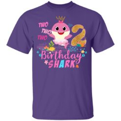 Baby Cute Shark Birthday Boys Girls 2 Years Old 2nd Birthday T-shirt 10 of Sapelle