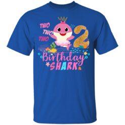 Baby Cute Shark Birthday Boys Girls 2 Years Old 2nd Birthday T-shirt 12 of Sapelle