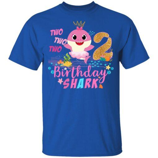 Baby Cute Shark Birthday Boys Girls 2 Years Old 2nd Birthday T-shirt 5 of Sapelle