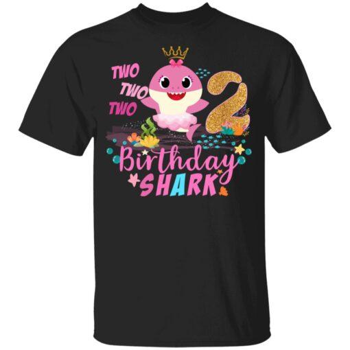 Baby Cute Shark Birthday Boys Girls 2 Years Old 2nd Birthday T-shirt 1 of Sapelle