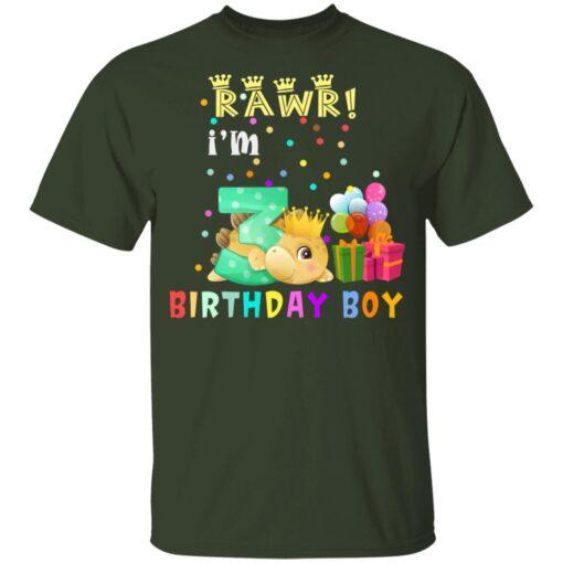 Kids 3 Year Old 2018 Birthday Boys Dinosaur 3rd Birthday T-shirt 2 of Sapelle