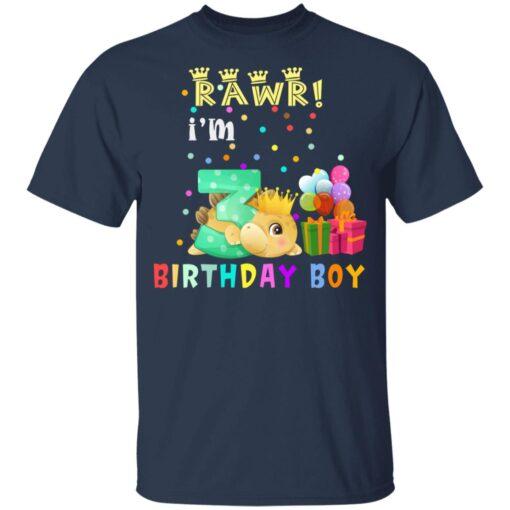 Kids 3 Year Old 2018 Birthday Boys Dinosaur 3rd Birthday T-shirt 3 of Sapelle