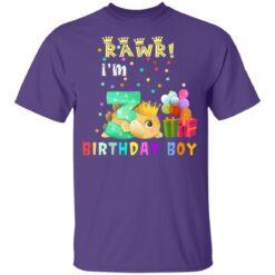 Kids 3 Year Old 2018 Birthday Boys Dinosaur 3rd Birthday T-shirt 10 of Sapelle