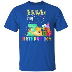 Kids 3 Year Old 2018 Birthday Boys Dinosaur 3rd Birthday T-shirt 12 of Sapelle