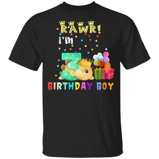 Kids 3 Year Old 2018 Birthday Boys Dinosaur 3rd Birthday T-shirt 1 of Sapelle