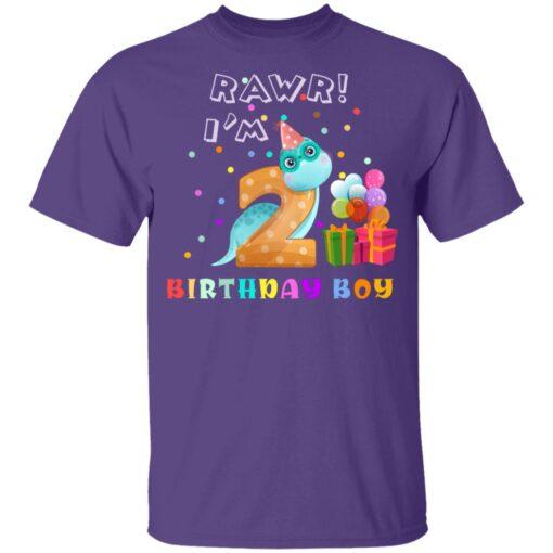 Kids 2 Year Old 2019 Birthday Boys Dinosaur 2nd Birthday T-shirt 4 of Sapelle