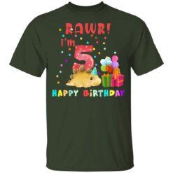 Kids 5 Year Old 2016 Birthday Boys Dinosaur 5th Birthday T-shirt 6 of Sapelle