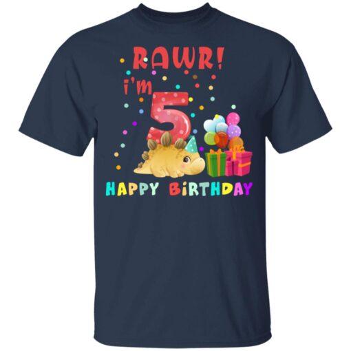 Kids 5 Year Old 2016 Birthday Boys Dinosaur 5th Birthday T-shirt 3 of Sapelle