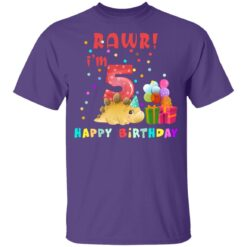 Kids 5 Year Old 2016 Birthday Boys Dinosaur 5th Birthday T-shirt 10 of Sapelle