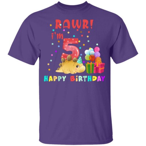 Kids 5 Year Old 2016 Birthday Boys Dinosaur 5th Birthday T-shirt 4 of Sapelle
