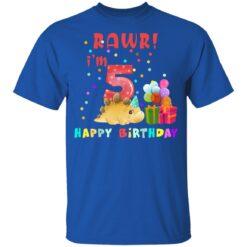 Kids 5 Year Old 2016 Birthday Boys Dinosaur 5th Birthday T-shirt 12 of Sapelle